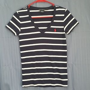 Ralph Lauren Sport 100% cotton blue striped top